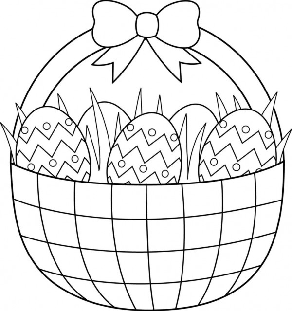 basket of easter eggs coloring page easter basket coloring pages easter basket full of eggs eggs easter basket page of coloring