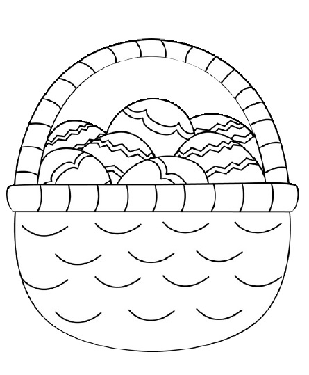 basket of easter eggs coloring page easter coloring pages free printable pdf from primarygames of page eggs easter basket coloring