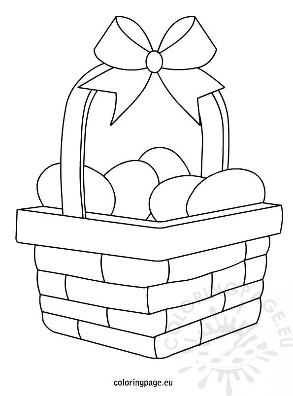 basket of easter eggs coloring page easter eggs basket printable coloring pages clipart best page eggs of basket coloring easter