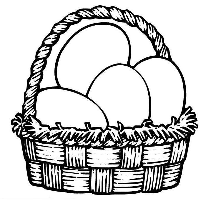 basket of easter eggs coloring page easter netart coloring basket of easter page eggs