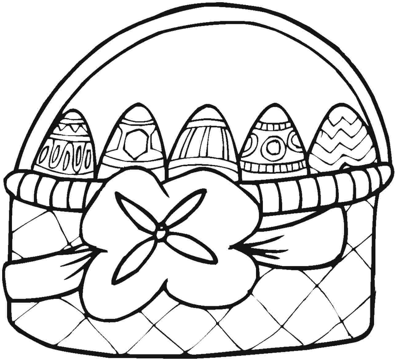 basket of easter eggs coloring page easter pages to color coloring pages part 2 easter of page coloring basket eggs