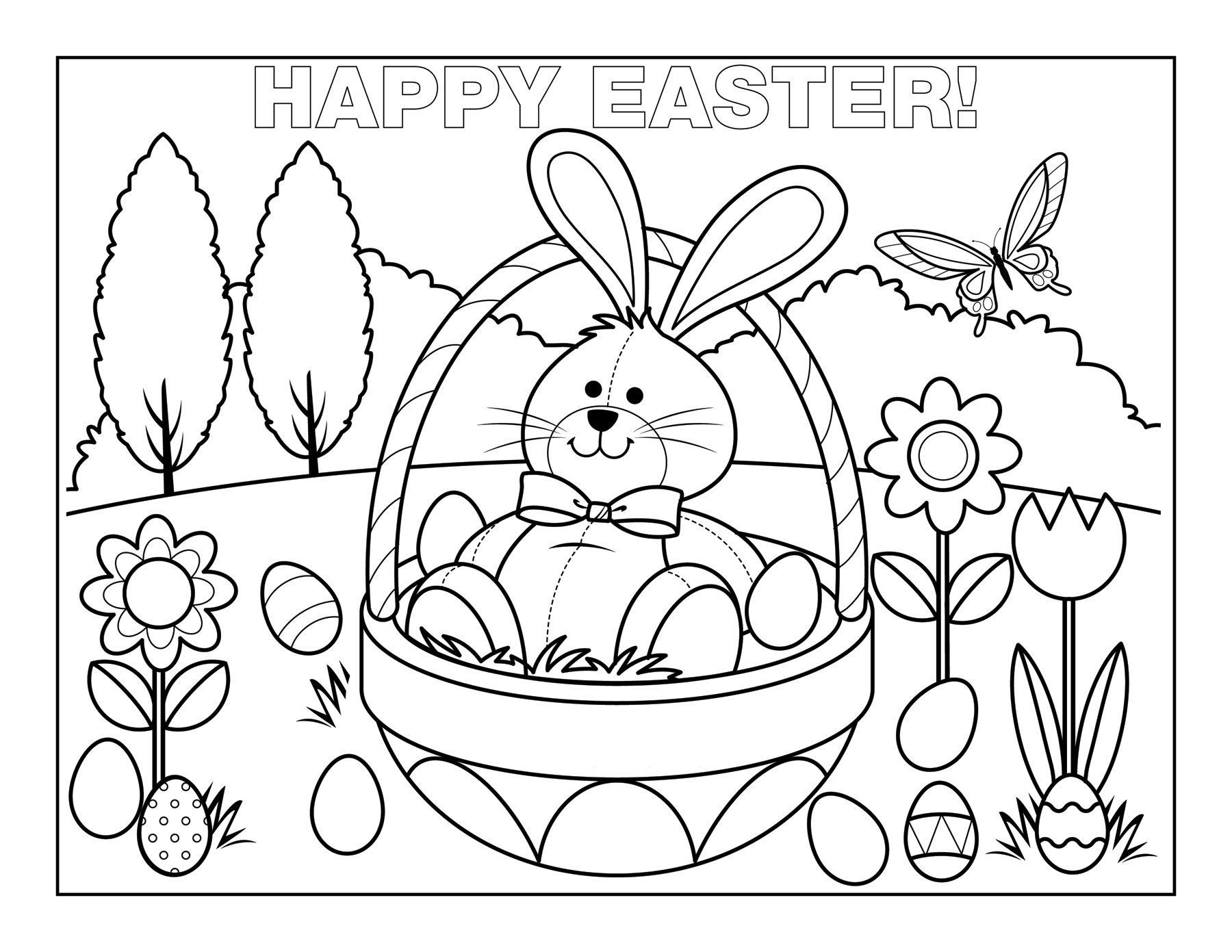 basket of easter eggs coloring page the hollywood gossip coloring pages easter eggs coloring basket eggs easter of page