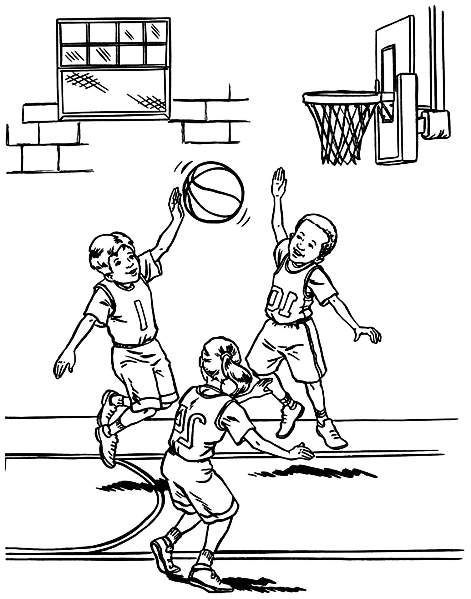 basketball pictures to color free printable basketball coloring pages for kids pictures basketball to color