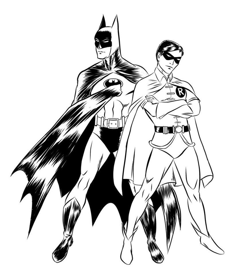 Batman and robin pictures to color