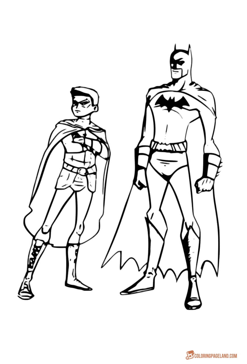 batman and robin pictures to color batman and robin coloring pages to download and print for free robin batman color and to pictures