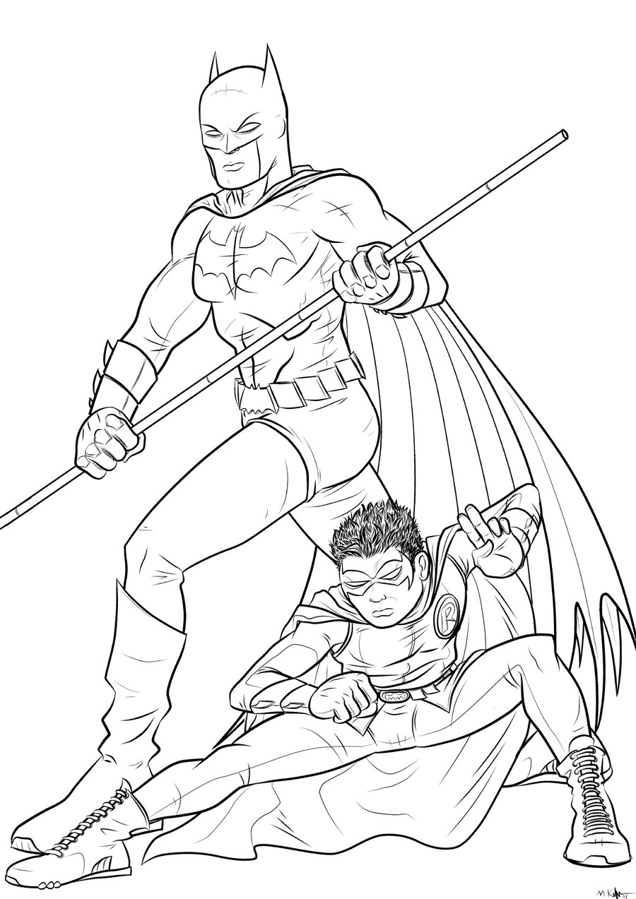 Batman and robin printable coloring pages