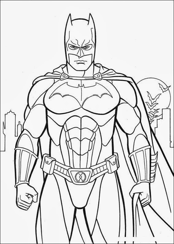Batman colouring sheet