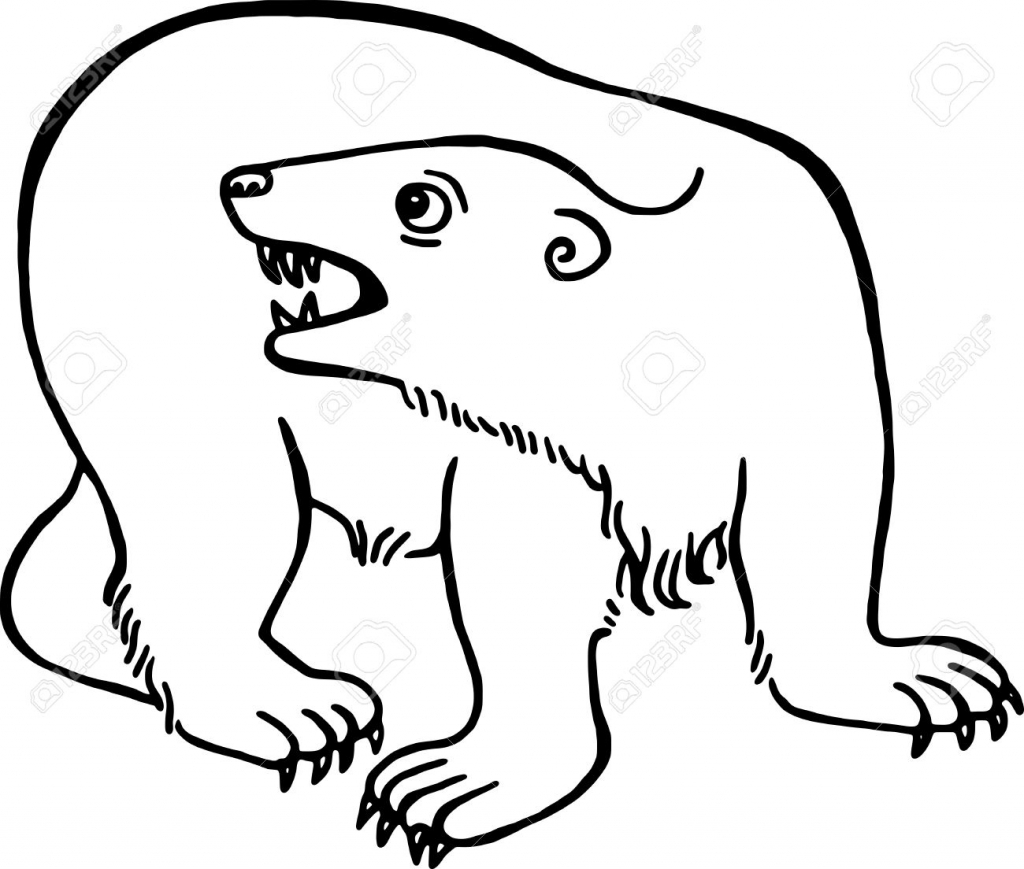 bear line drawing polar bear line drawing clipart best line bear drawing