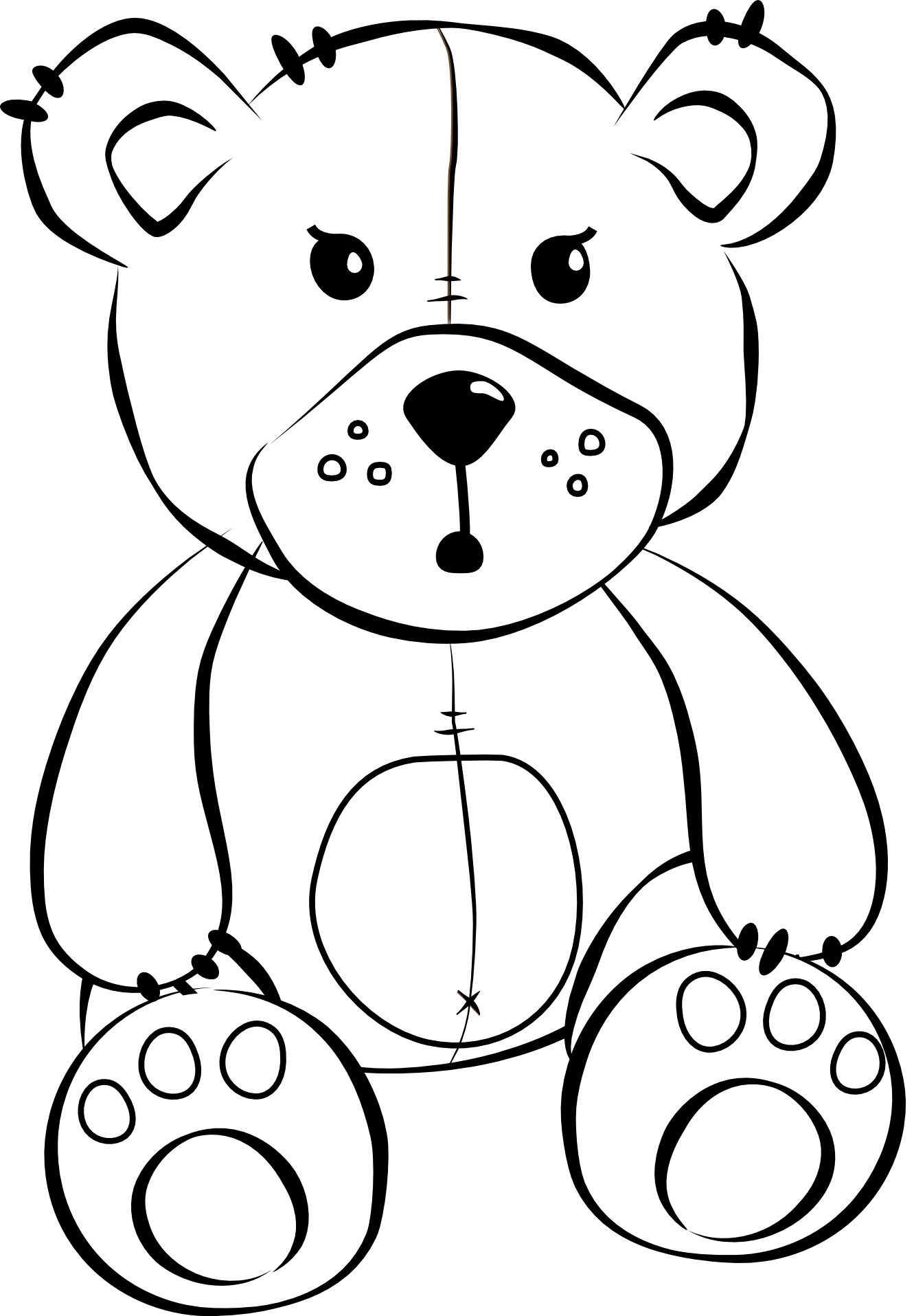 bear line drawing royalty free roaring bear clip art vector images bear drawing line