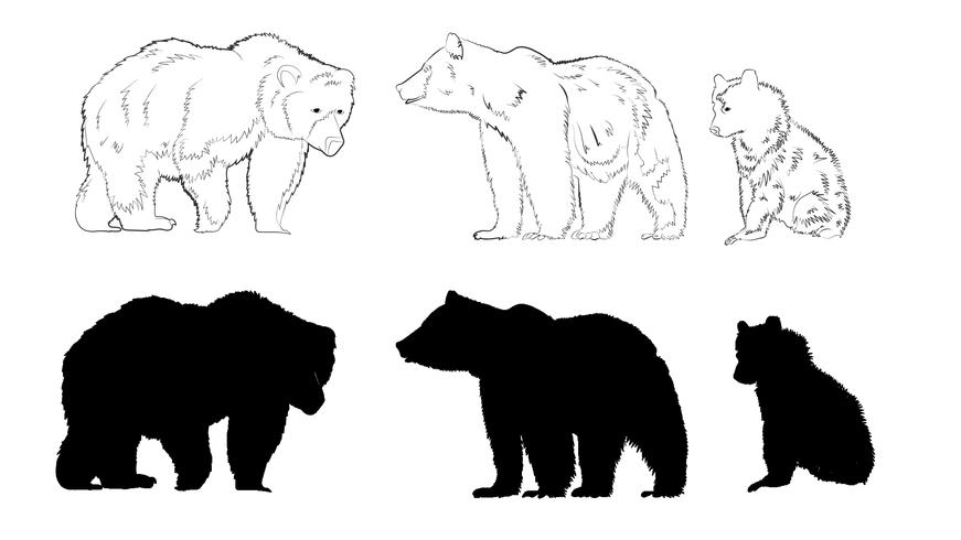 bear silhouette bear silhouette download free clip art with a transparent silhouette bear