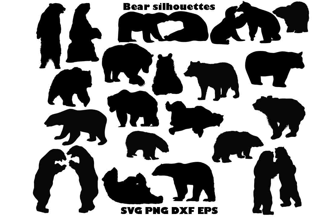 bear silhouette bear silhouette svg png dxf eps graphic by twelvepapers silhouette bear