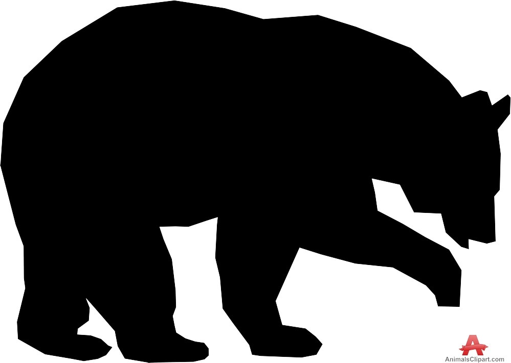 bear silhouette mama and baby bear silhouette at getdrawings free download silhouette bear