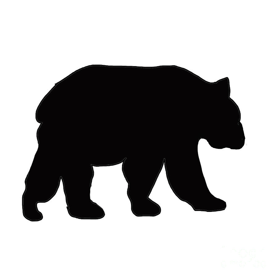 bear silhouette silhouette of black grizzly bear painting by irene irene silhouette bear