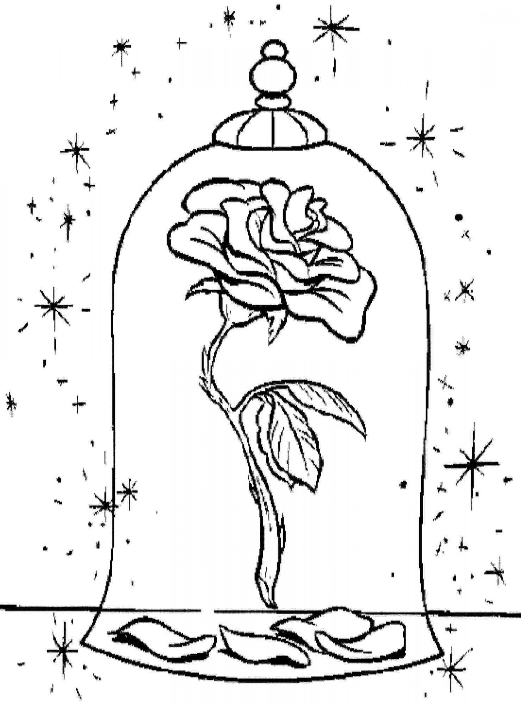 beauty and the beast rose coloring pages 28 beauty and the beast stained glass coloring page in pages rose beast beauty and coloring the
