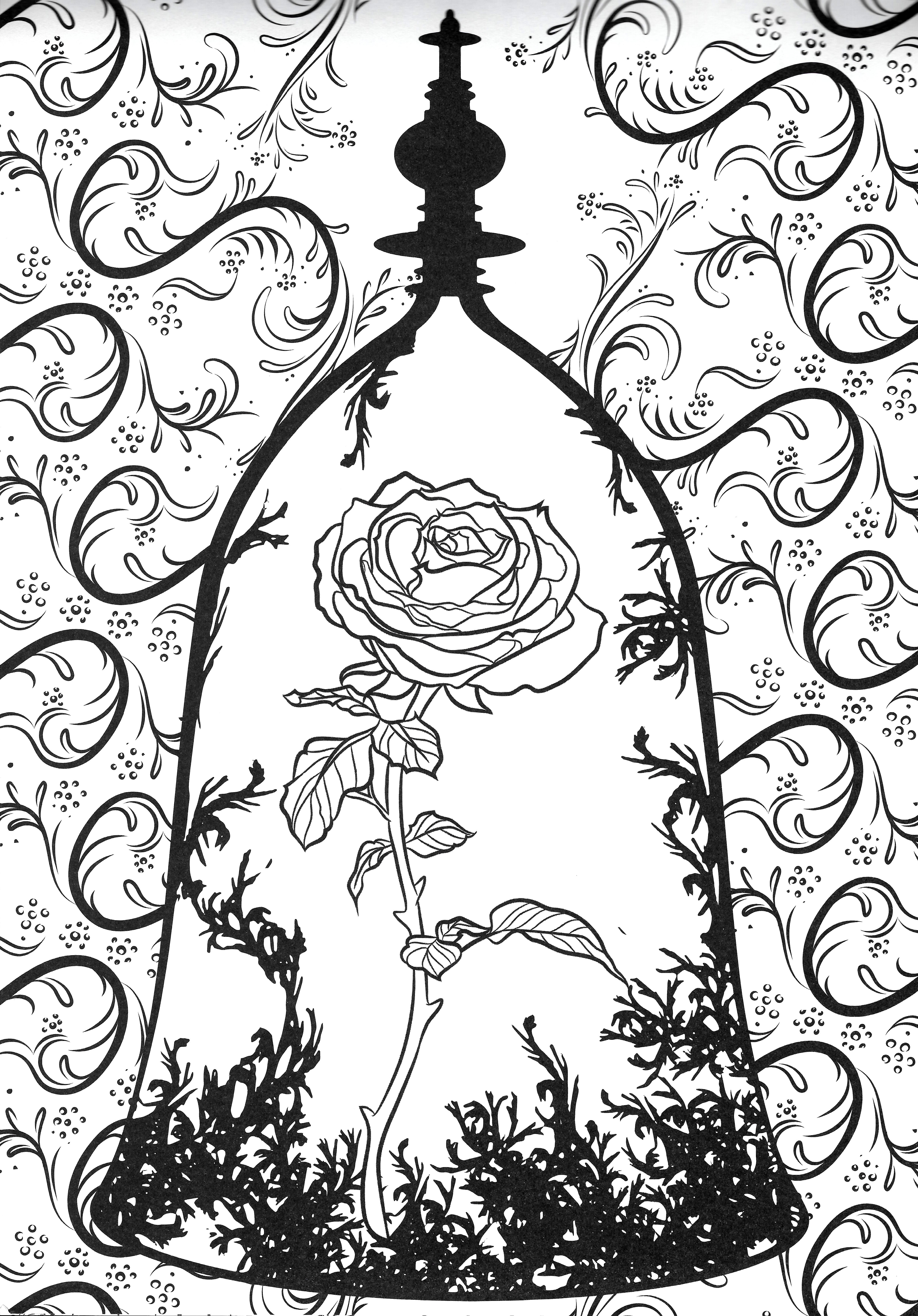 beauty and the beast rose coloring pages beauty and the beast drawings follow kyle lambert pages beauty rose coloring the beast and