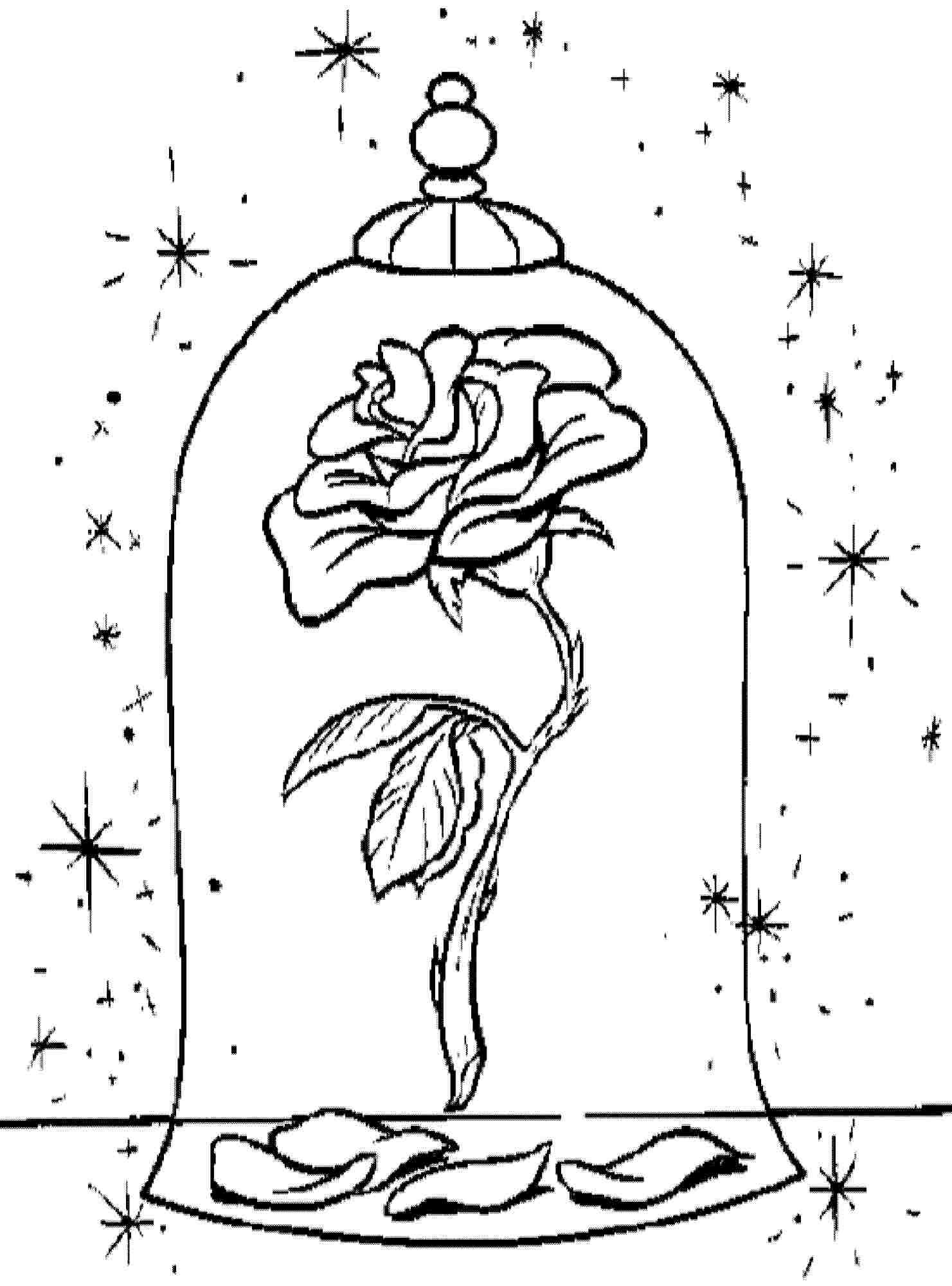 beauty and the beast rose coloring pages beauty beast rose coloring pages print colouring pages coloring beast the pages beauty rose and