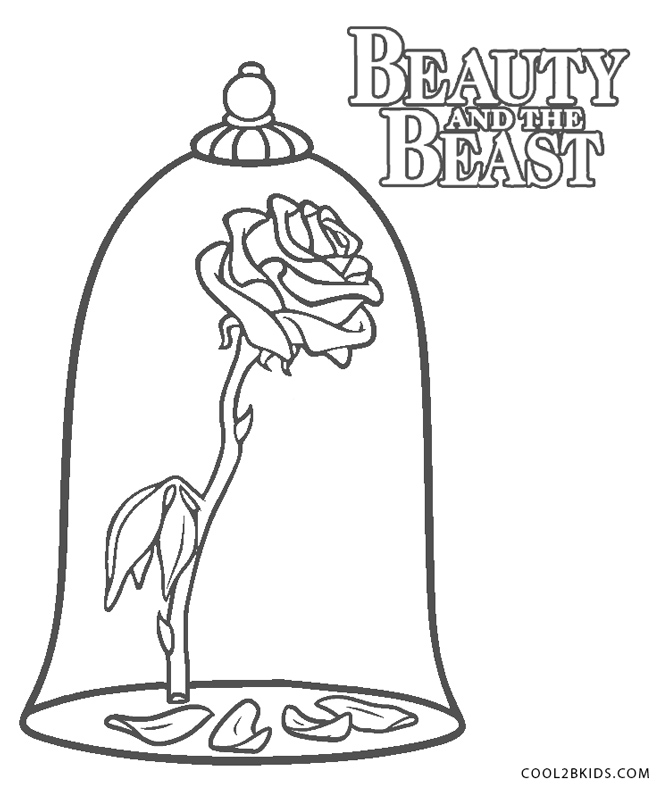 beauty and the beast rose coloring pages free printable coloring pages disney princess the beast and the beauty pages rose coloring beast