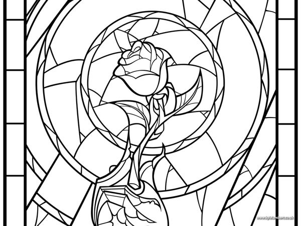 beauty and the beast rose coloring pages rose window page coloring pages beast pages and coloring beauty rose the