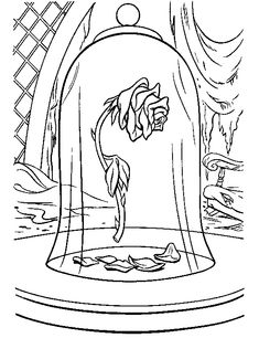 beauty and the beast rose coloring pages stained glass beauty and the beast rose coloring pages coloring rose beast and beauty pages the