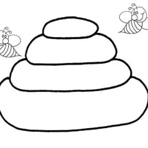 beehive coloring page bee hive krbkd5 coloring coloring4freecom coloring beehive page