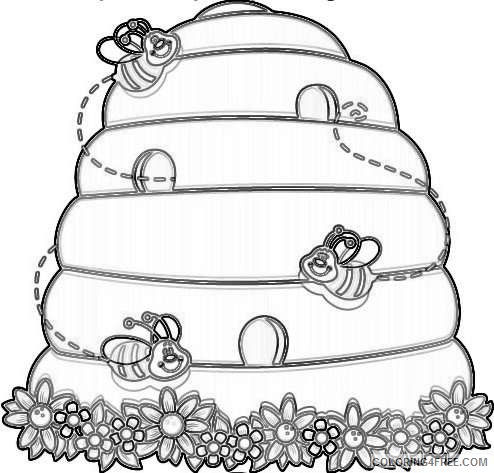 beehive coloring page beehive outline coloring page netart beehive page coloring