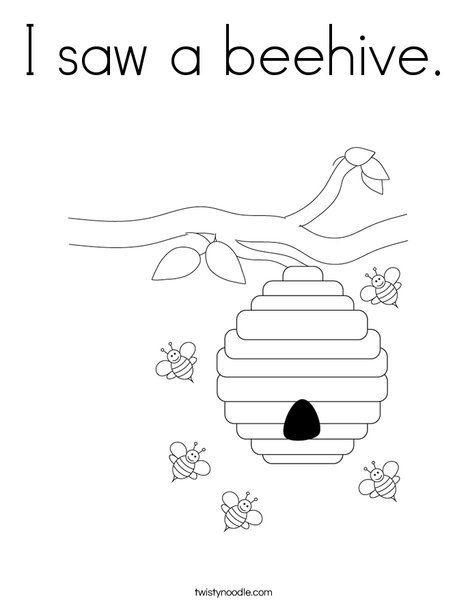 beehive coloring page bees guarding beehive coloring page netart page beehive coloring