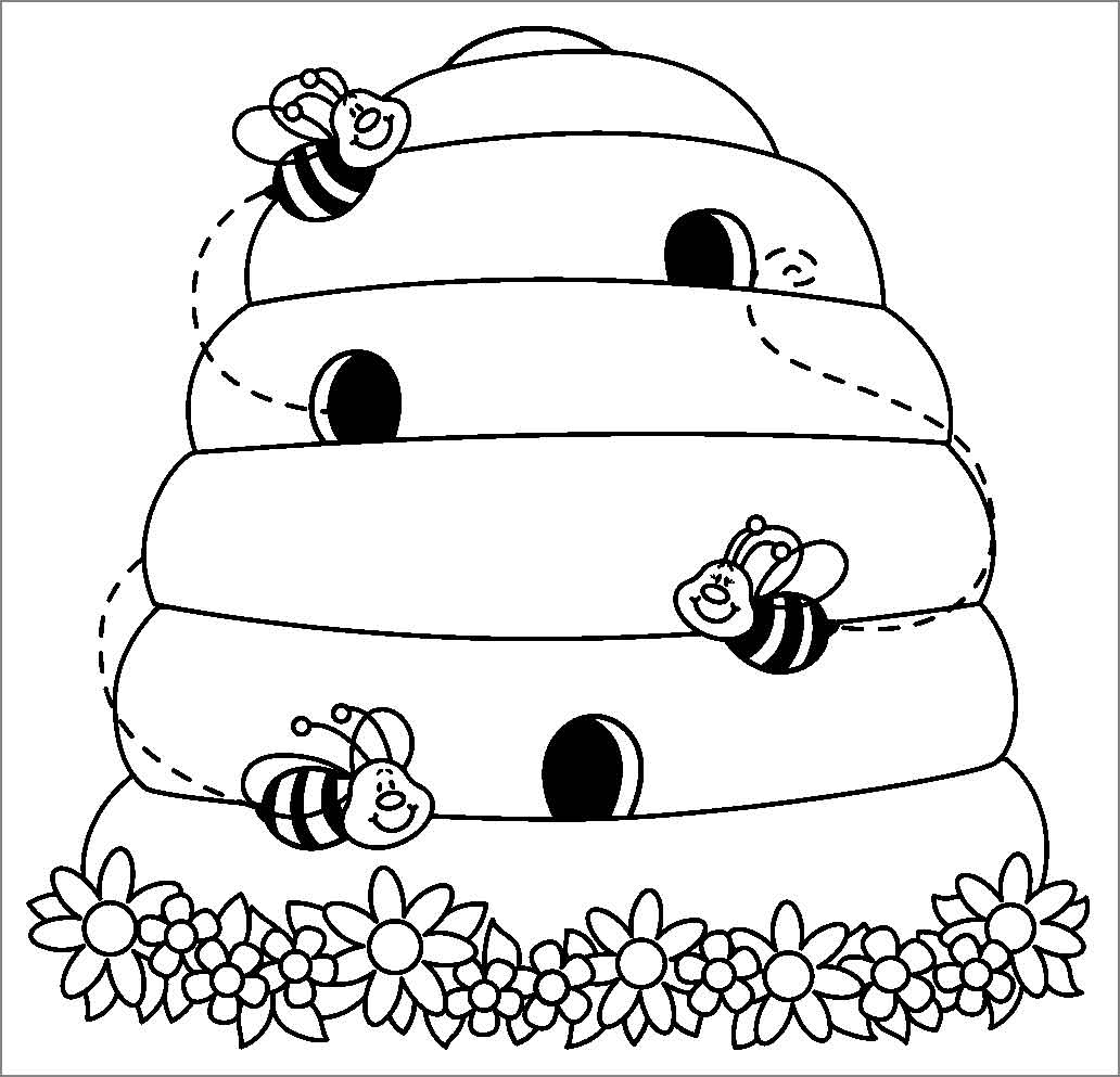beehive coloring page objects netart part 5 page coloring beehive