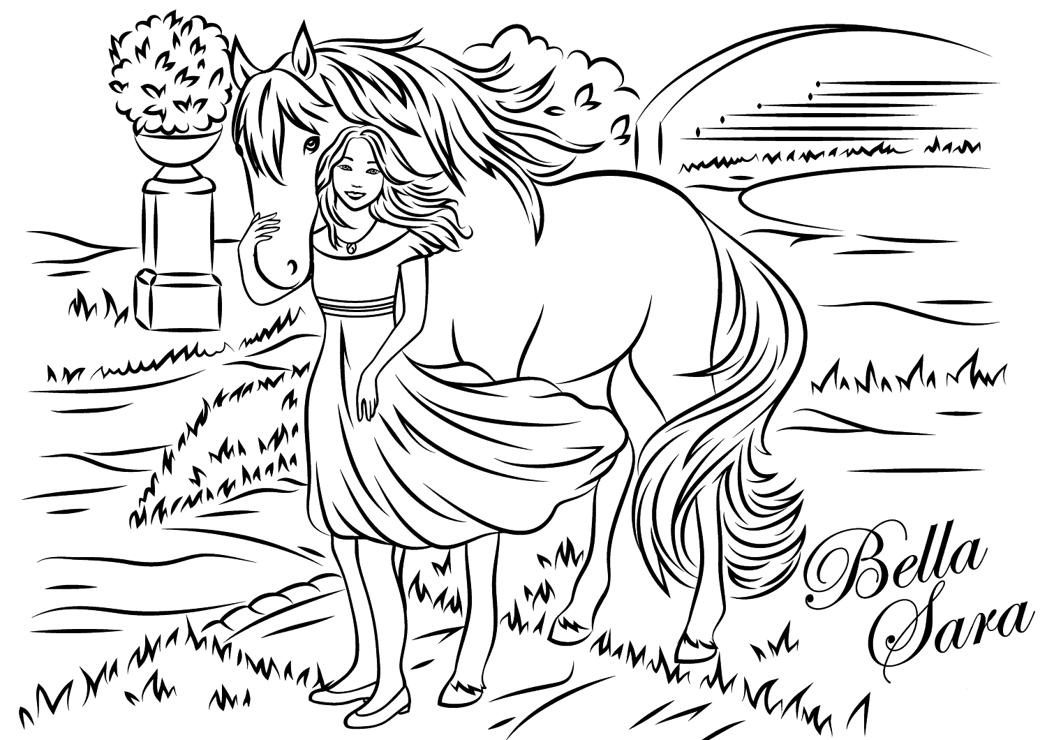 bella sara coloring pages bella sara 09 coloring page free bella sara coloring sara bella coloring pages