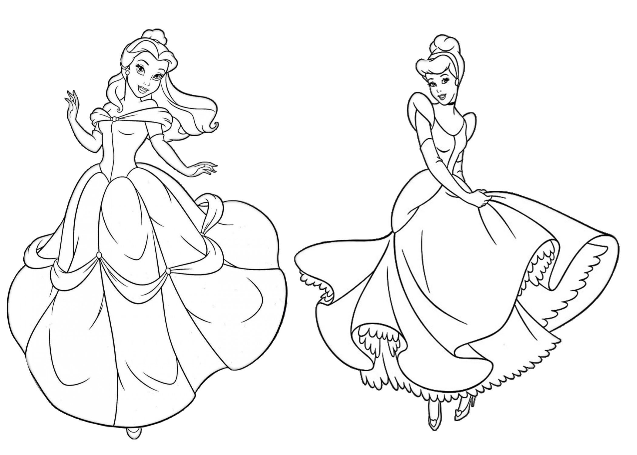 belle and cinderella coloring pages 33 disney princess coloring pages for girls print color pages coloring and belle cinderella