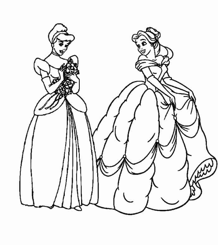 belle and cinderella coloring pages belle and cinderella coloring pages coloring pages for cinderella and belle coloring pages