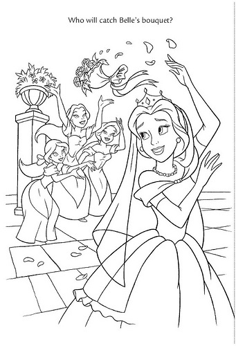 belle and cinderella coloring pages wedding wishes 14 by disneysexual via flickr belle beauty cinderella pages and belle coloring