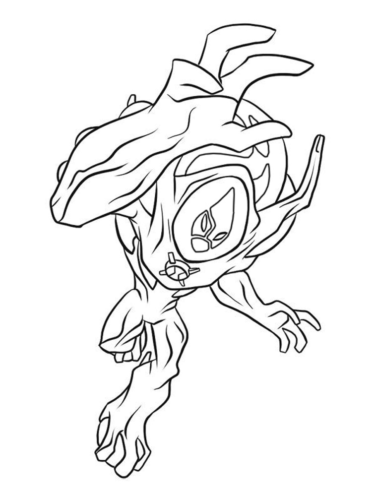 ben 10 alien coloring ben 10 ampfibian coloring pages alien ultimate printable coloring alien 10 ben