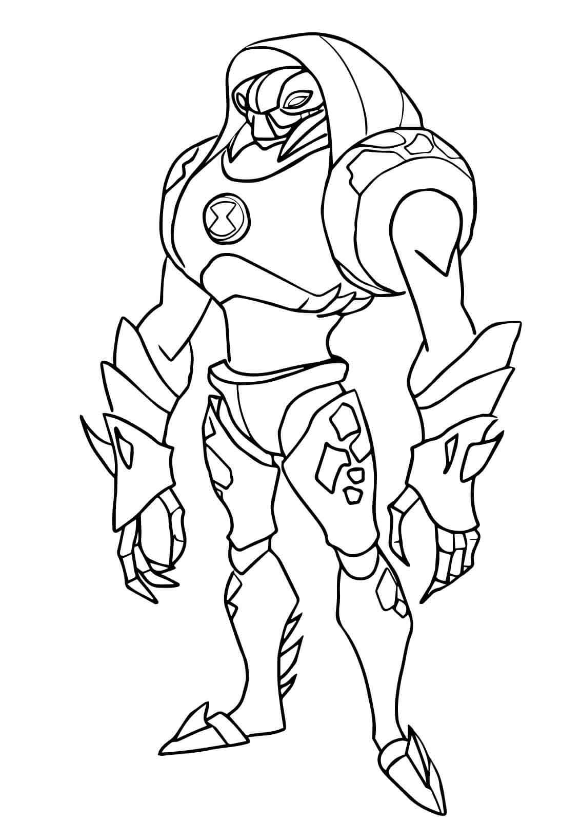 ben 10 alien coloring easy ben 10 rath coloring pages alien force rath colouring 10 alien coloring ben