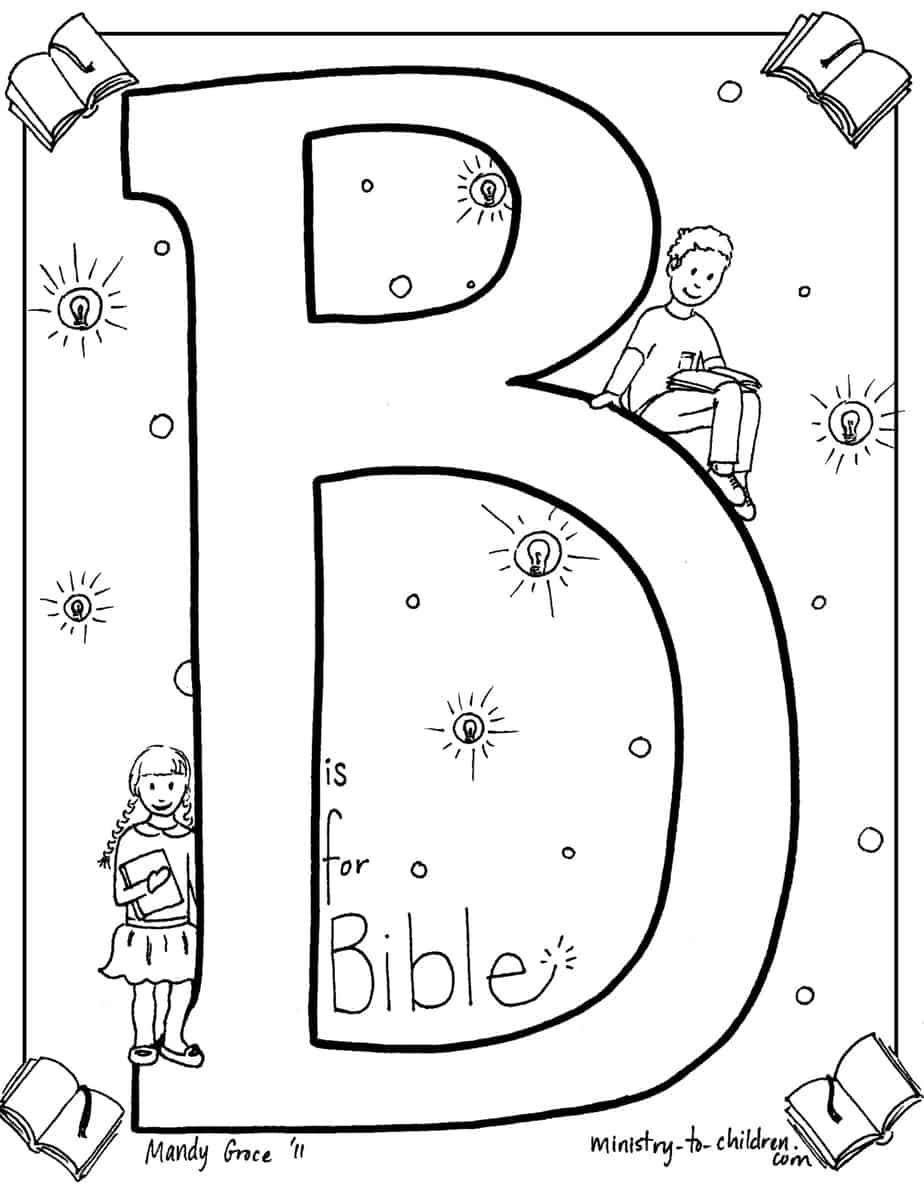 bible coloring pages for preschoolers quotb is for biblequot coloring page preschoolers for pages bible coloring