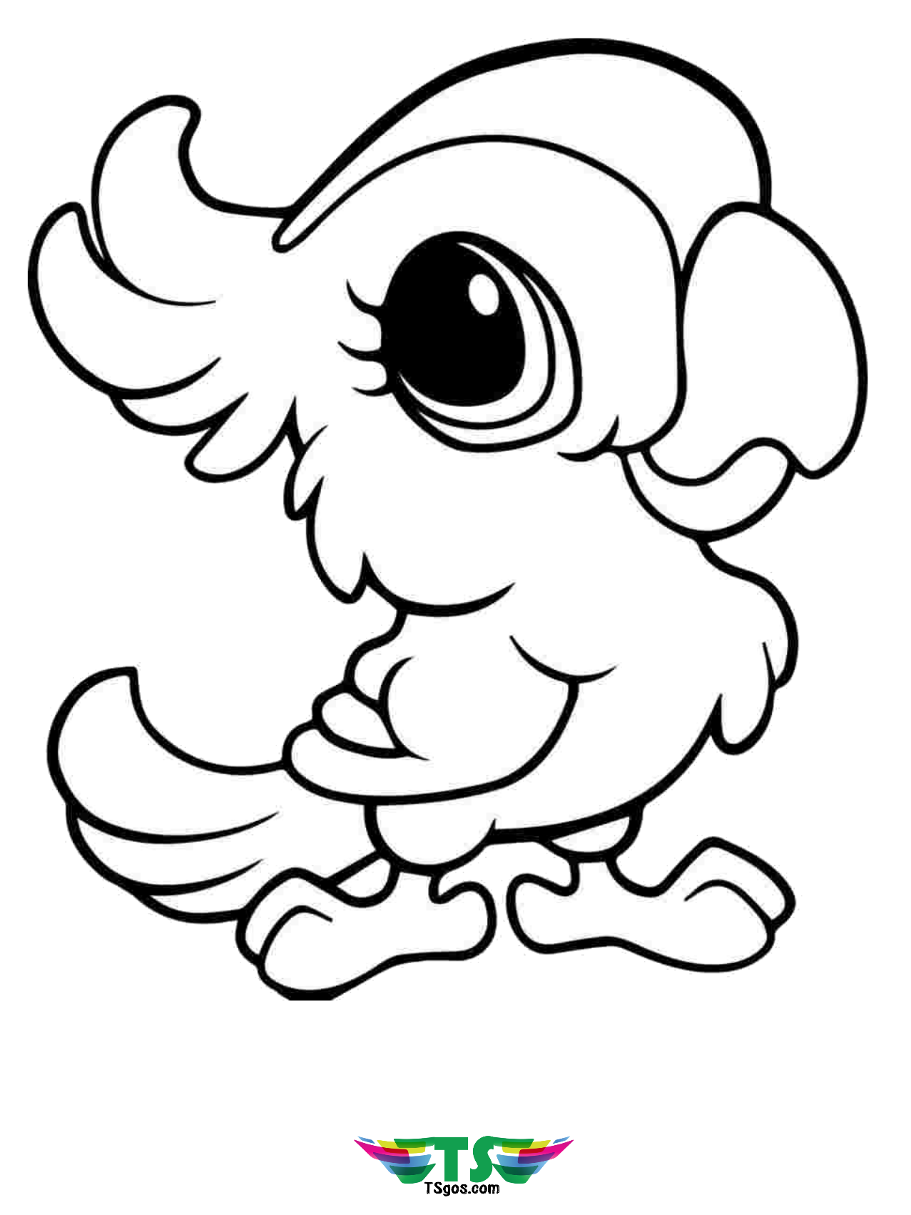 Bird colouring pages for kids