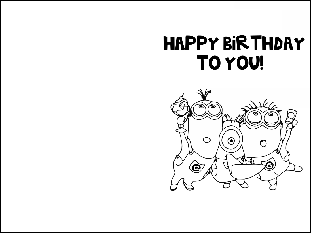 birthday cards for coloring 5 best printable birthday cards to color printableecom for birthday cards coloring