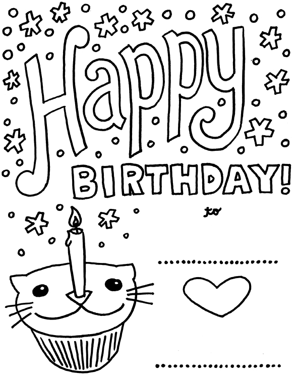 birthday cards for coloring birthday coloring pages cards coloring for birthday