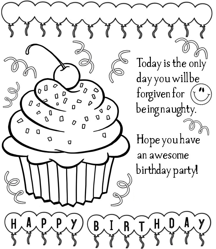 birthday cards for coloring happy birthday coloring page coloring pages for kids for birthday coloring cards