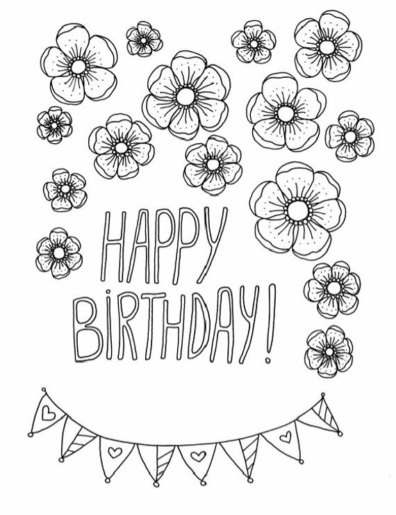 birthday cards for coloring happy birthday coloring page printable coloring page coloring birthday cards for