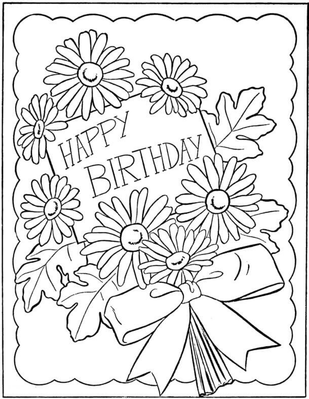 birthday cards for coloring happy birthday grandma coloring pages at getcoloringscom coloring birthday cards for