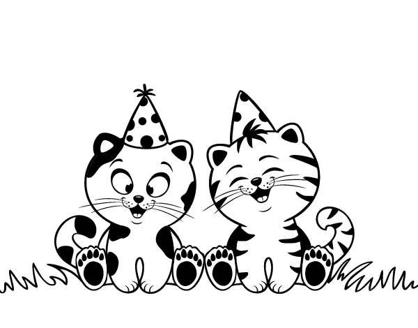 birthday cat coloring pages birthday cat coloring page tiernos pinterest birthday cat coloring pages