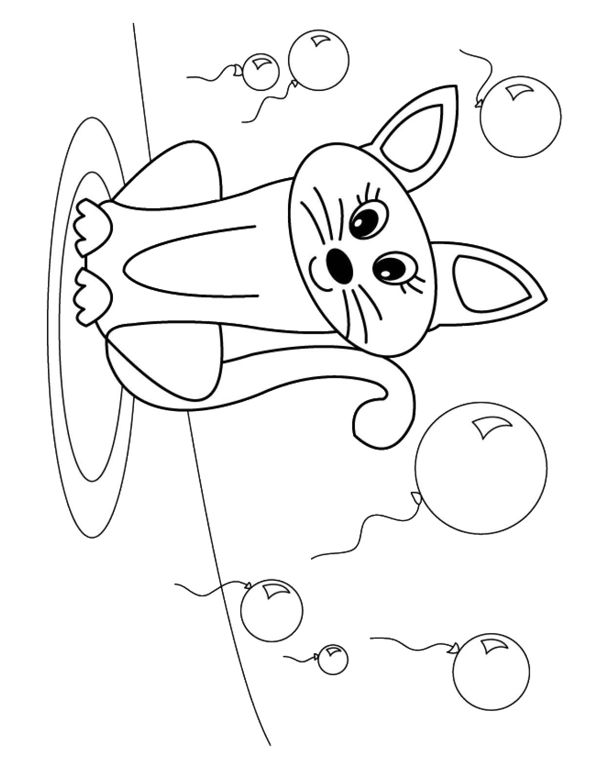 birthday cat coloring pages birthday cat with girl digi stamps digital stamps cat cat coloring pages birthday