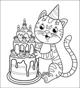 birthday cat coloring pages cake coloring pages free printable pictures cat birthday coloring pages