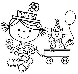 birthday cat coloring pages cat lovers coloring pages birthday printable coloring pages birthday cat