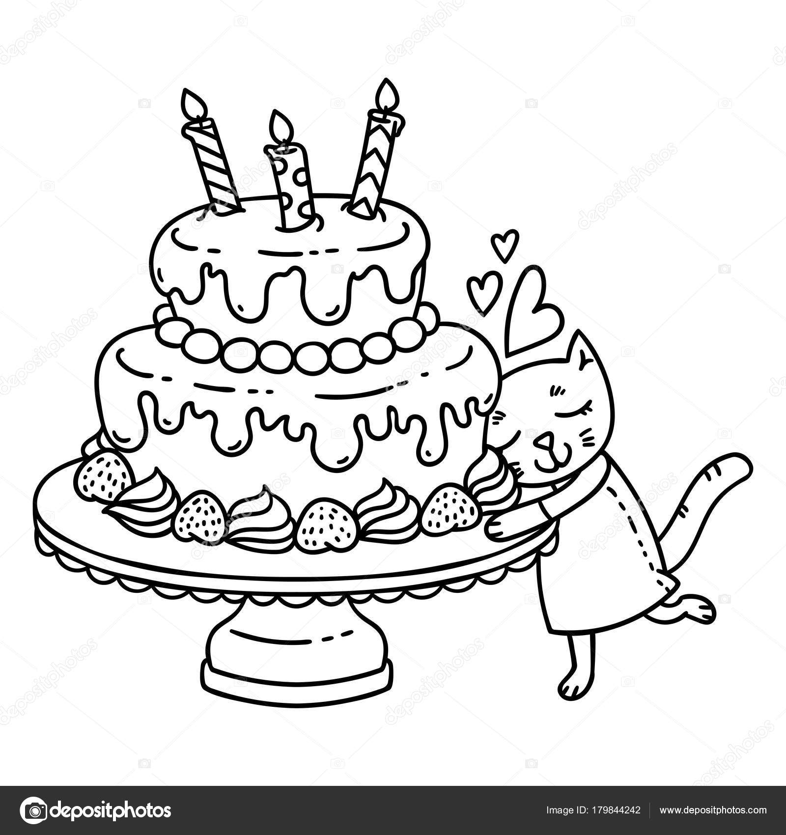 birthday cat coloring pages dibujos para colorear de velas de cumpleanos para colorear cat birthday pages coloring