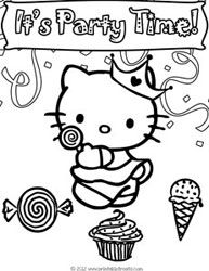 birthday cat coloring pages hello kitty birthday coloring pages to print hello kitty cat coloring birthday pages