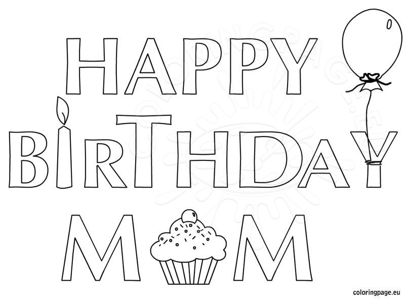 birthday coloring pages for mom 25 free printable happy birthday coloring pages mom birthday coloring pages for
