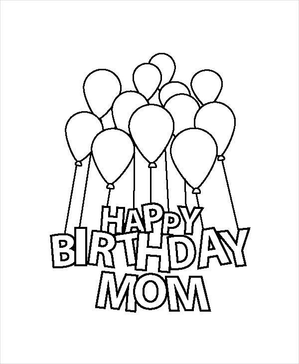 birthday coloring pages for mom 9 happy birthday coloring pages free psd jpg gif for coloring mom birthday pages