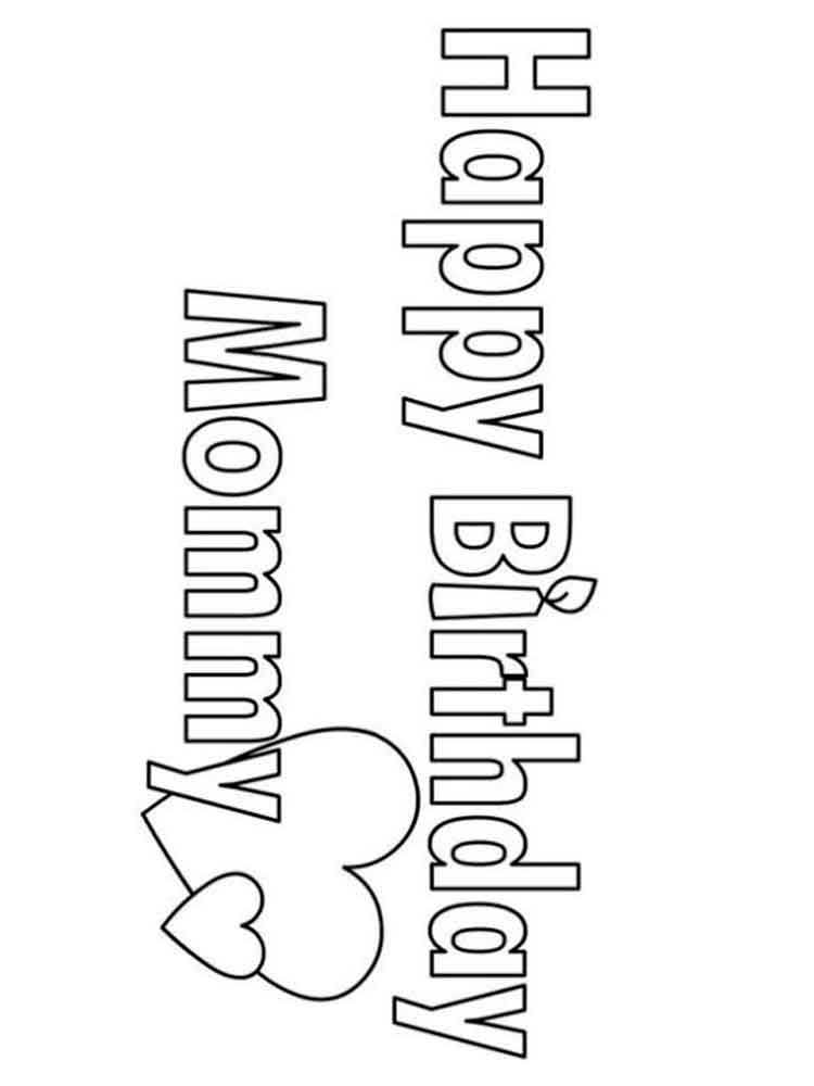 birthday coloring pages for mom happy birthday coloring pages download mom for coloring pages birthday