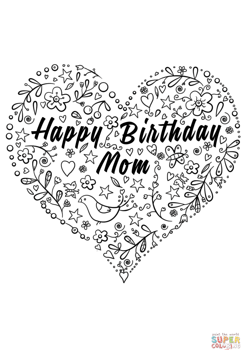 birthday coloring pages for mom happy birthday mom coloring page free printable coloring birthday coloring pages for mom